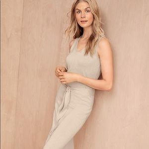 ⭐️NWOT Linen & Organic Cotton Tie-Waist Dress